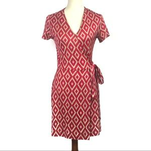 Diane von Furstenberg Vintage 90s Short Wrap Dress